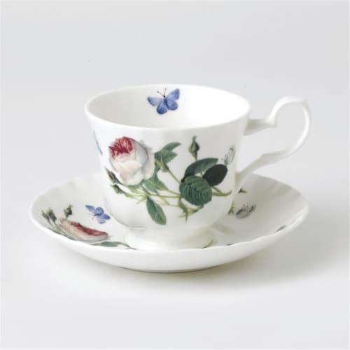 Roy Kirkham ER27103 230 ml Palace Garden Teacup & Saucer - Set of 2 Perspective: front
