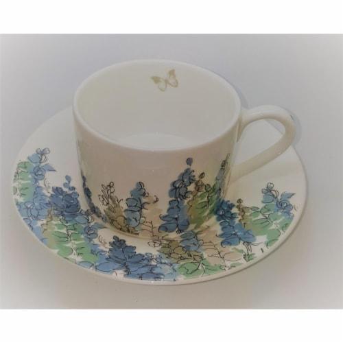Roy Kirkham ER2781 230 ml Fairfield Blue Teacup & Saucer - Set of 2 Perspective: front