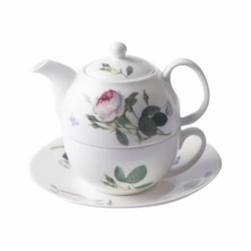 Roy Kirkham ER30103 90 mm Palace Garden Tea for One Teapot with Tea Cup & Saucer, Multi Color Perspective: front