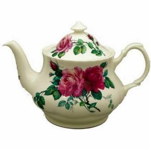 Roy Kirkham 130 ml English Rose Pink Large Teapot, Multi Color Perspective: front
