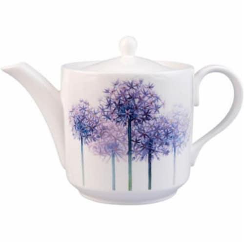 Roy Kirkham 130 ml Floral Alliums Large Teapot, Multi Color Perspective: front