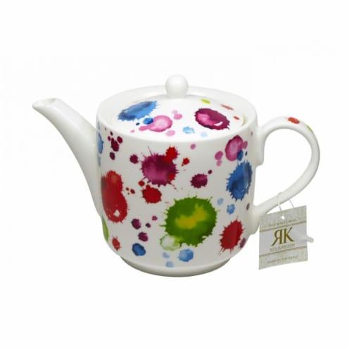 Roy Kirkham 130 ml Splash Large Teapot, Multi Color Perspective: front