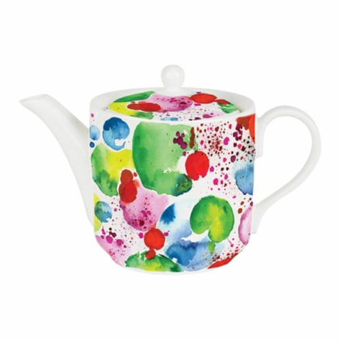 Roy Kirkham 130 ml The Planets Large Teapot, Multi Color Perspective: front