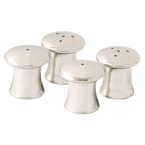 Leeber 83042 Elegance Mushroom Salt & Pepper Shakers, 1.5 x 1.25 dia. - Set of 4 Perspective: front