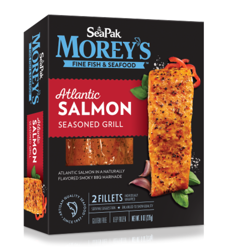 Morey's Seasoned Grill Atlantic Salmon Perspective: front