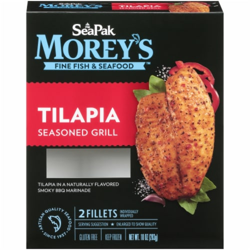 Morey's Fine Fish & Seafood Seasoned Grill Tilapia Perspective: front