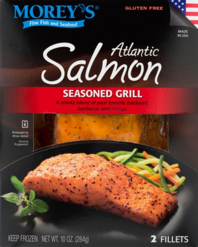 Morey's Seasoned Grill Atlantic Salmon Fillets Perspective: front