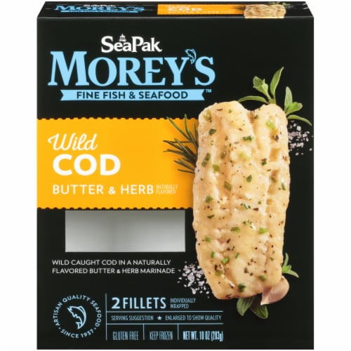 Morey's Butter & Herb Cod Fillets Perspective: front