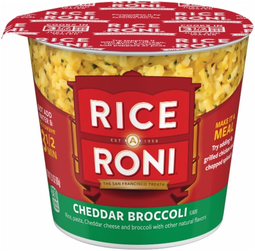 Rice-A-Roni Cheddar Broccoli Instant Cup Case Perspective: front