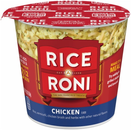 Rice-A-Roni Chicken Flavor Rice Cups Perspective: front