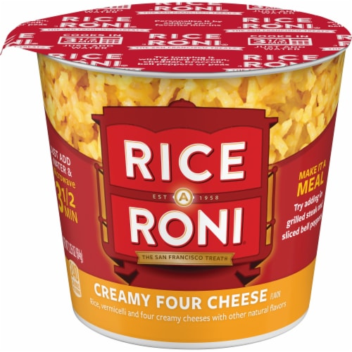 Rice-A-Roni Creamy Four Cheese Flavor Instant Rice Cup Perspective: front
