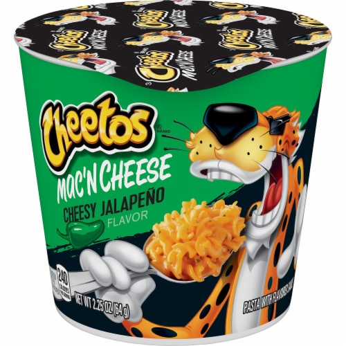 Cheetos Cheesy Jalapeno Cheddar Mac'N Cheese Cup Perspective: front