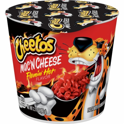 Cheetos Flamin' Hot Mac'N Cheese Perspective: front