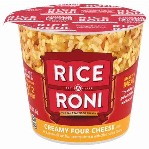 Rice-A-Roni Creamy Four Cheese Rice Perspective: front