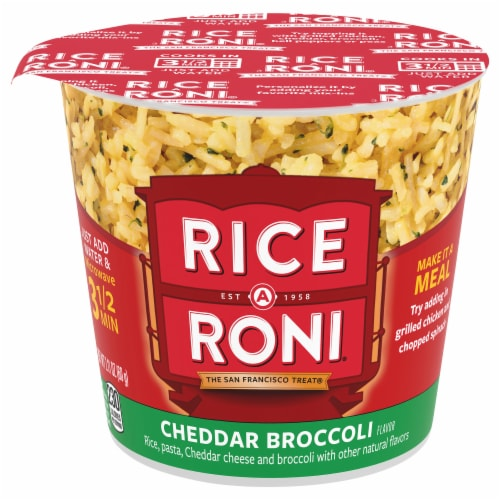 Rice-A-Roni Cheddar Broccoli Flavor Rice Cup Perspective: front