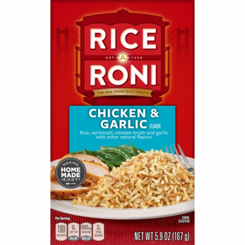 Rice A Roni Chicken & Garlic Flavor Rice Mix Perspective: front