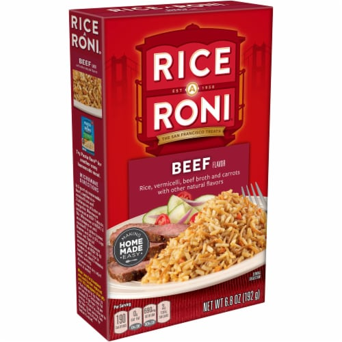 Rice-A-Roni Beef Flavor Rice Mix Perspective: front