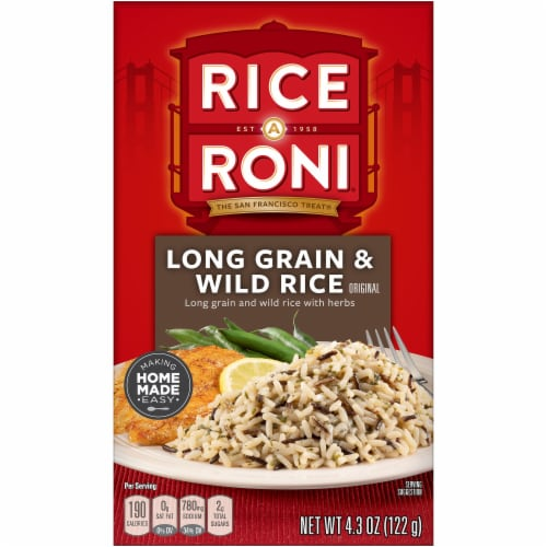 Rice-A-Roni Long Grain & Wild Rice Mix Perspective: front