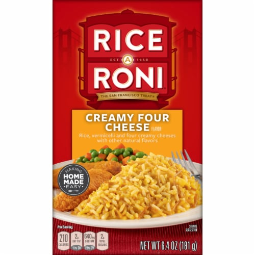 Rice A Roni Creamy Four Cheese Rice Mix Perspective: front