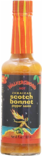 Walkerswood Hot Jamaican Scotch Bonnet PepperSauce Perspective: front