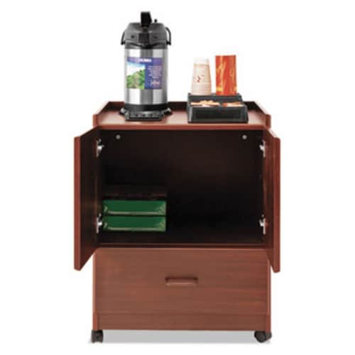 Advantus VF96033 Cherry Mobile Deluxe Coffee Bar Perspective: front
