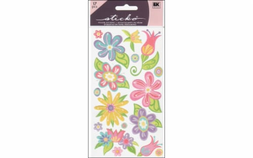 EK Success Sticko Small Fanciful Flower Stickers Perspective: front
