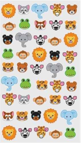 EK Success Sticko Zoo Faces Sticker Sheet Perspective: front