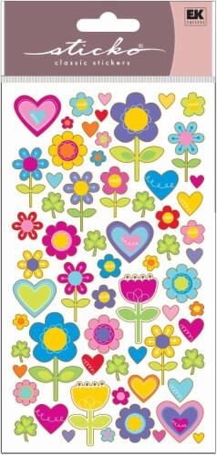EK Success Sticko I Love Flowers Sticker Sheet Perspective: front