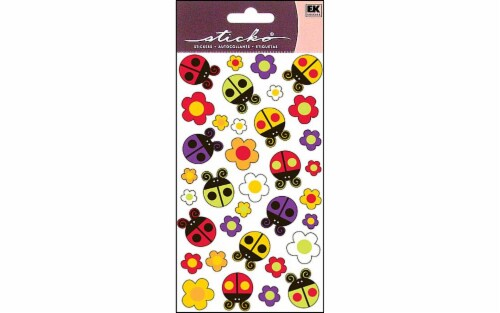Sticko Bugs 'n Blossoms Sticker Sheet Perspective: front