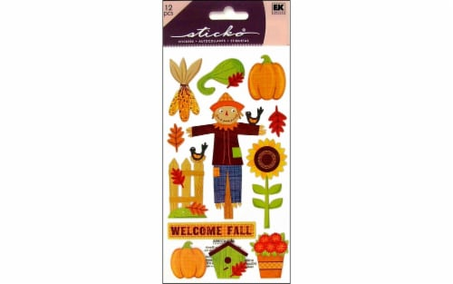 EK Sticko Welcome Fall Stickers Perspective: front