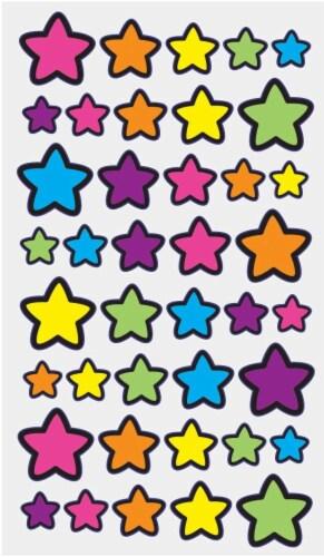 EK Success Sticko Foil Technicolor Star Sticker Sheet Perspective: front