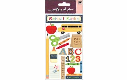 EK Success Sticko School Rocks Sticker Sheet Perspective: front