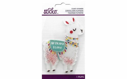 EK Sticko Sticker 3D Floaty Drama Llama Perspective: front