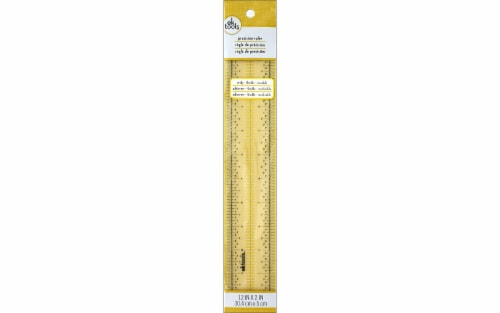 EK Precision Ruler 12x2 Sticky Flexible Perspective: front