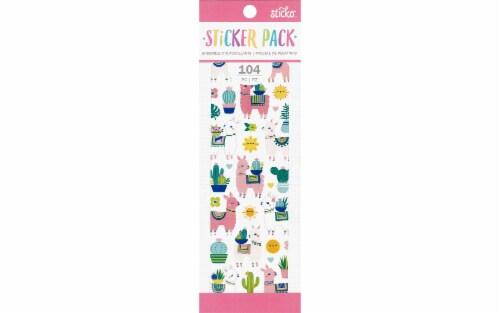EK Sticko Sticker Pack Llama & Cactus Perspective: front
