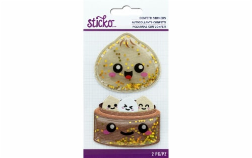 EK Sticko Sticker Confetti Air Puffy Dumpling Perspective: front