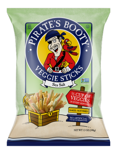 Pirate's Booty Sea Salt Veggie Sticks Perspective: front