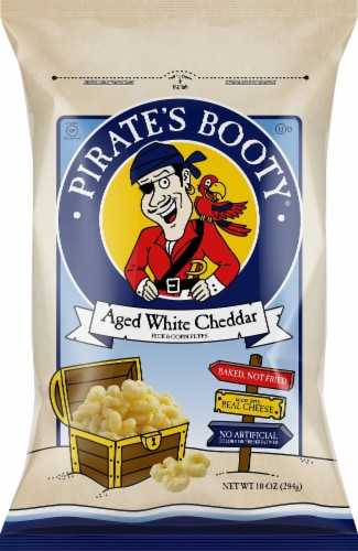 Pirate's Booty Aged White Cheddar Rice & Corn Puffs Perspective: front