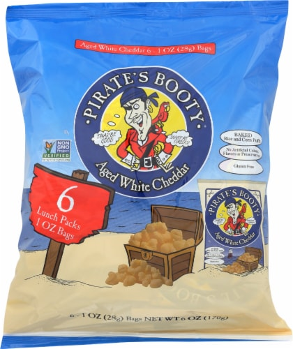 Pirate's Booty Aged White Cheddar Puffs Perspective: front