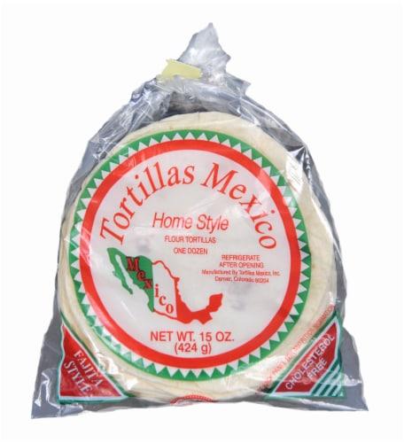 Tortillas Mexico Flour Tortillas Perspective: front