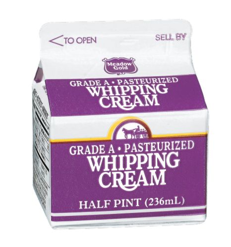 Meadow Gold Whipping Cream Perspective: front