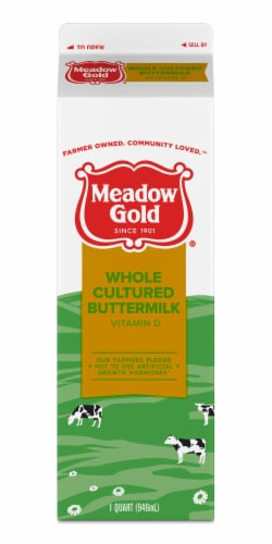 Meadow Gold Extra Rich Cultured Buttermilk Perspective: front