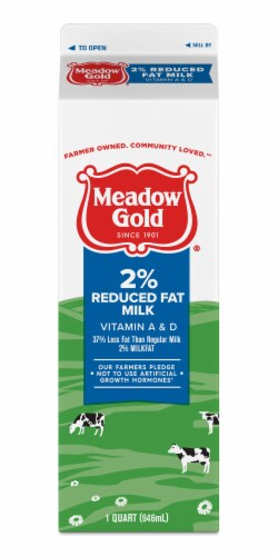 Meadow Gold Viva 2% Reduced Fat Milk Perspective: front