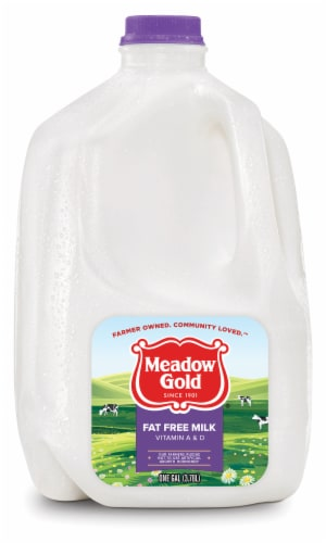 Meadow Gold Fat Free Milk Perspective: front