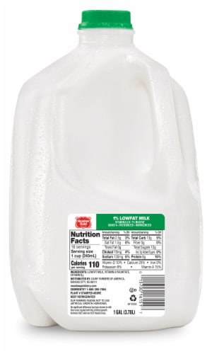 Meadow Gold 1% Lowfat Milk Perspective: front