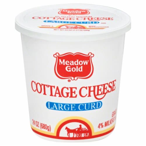 Meadow Gold Large Curd Cottage Cheese Perspective: front