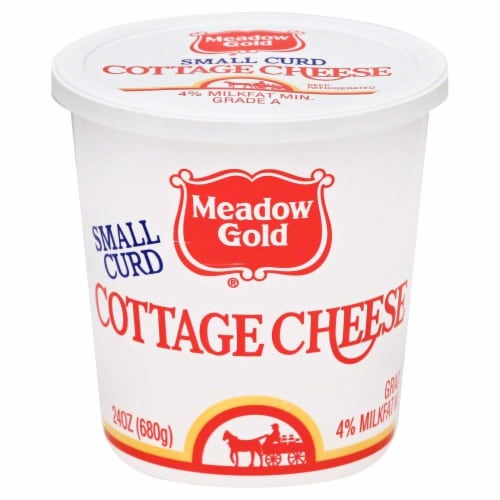 Meadow Gold Small Curd Cottage Cheese Perspective: front