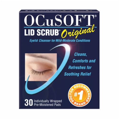 OCuSOFT Lid Scrub Original Eyelid Cleanser Premoistened Pads 30 Count Perspective: front