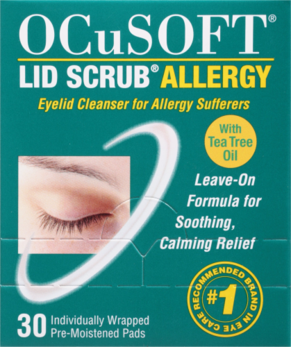 OCuSOFT Lid Scrub Allergy Eyelid Cleanser Pads Perspective: front