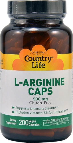 Country Life L-Arginine Capsules Perspective: front